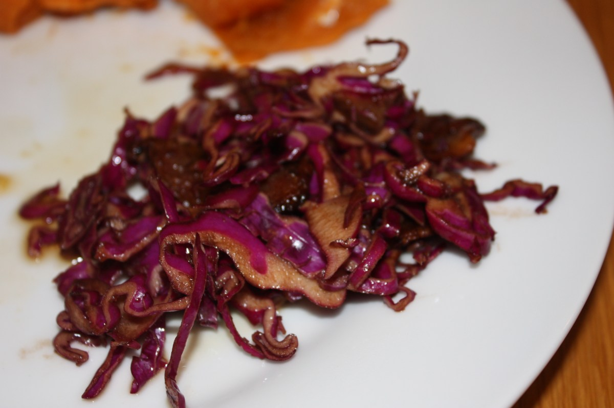Lidia's Red Cabbage and Bacon Salad